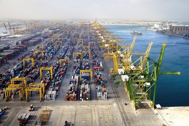 jebel ali port view